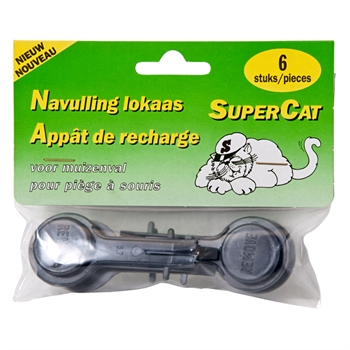 6x Ersatzköder Super Cat für Mausefallen