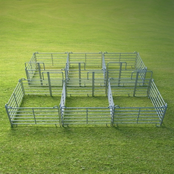VOSS.farming Weidepanel-Set 2 x 3er Panel-Box, je 3,00 x 3,00 m