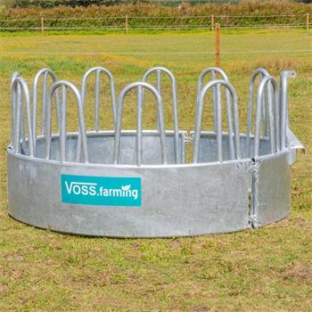 VOSS.farming Rundballenraufe, Heuraufe, Rundraufe mit 12 Fressplätzen und Palisadenfressgitter