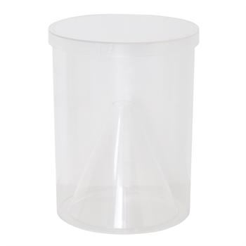 Fangbehälter Bremsenfalle, transparent, inkl. Deckel