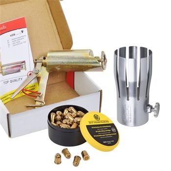 VOSS.garden Wühlmausschussgerät + VOSS.garden Safety Crown® VSC + 50x Kartuschen