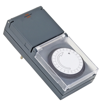 Zeitschaltuhr 230V, mechanisch, Outdoor/ Aussenbereich IP44