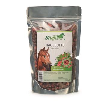Stiefel Hagebutten - gesunde Pferdeleckerlies mit hohen Vitamin C Gehalt, 500g
