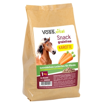 VOSS.vital Snack grainfree KAROTTE - Pferdeleckerlies, 1kg