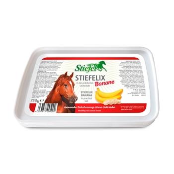 Stiefel Stiefelix Bananen-Leckschale - getreidefreie Belohnung für Pferde, 750g