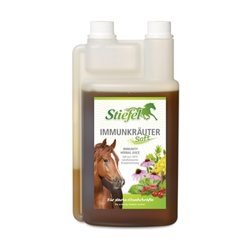 Stiefel Immunkräutersaft für Pferde - für starke Abwehrkräfte, 1L