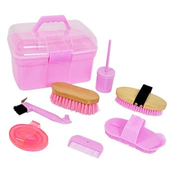 Putzbox mit viel Zubehör, pink