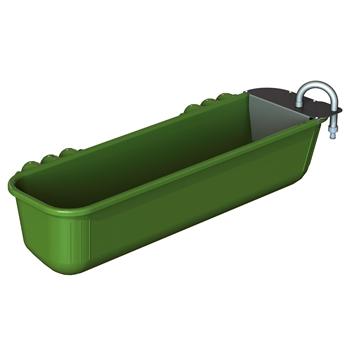 KERBL Langtränke mit Schwimmerventil zum Einhängen, 42 Liter