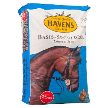 """HAVENS """"BASIS-SPORTBROK"""", haferfreie Pellets für Pferde, 25kg"""