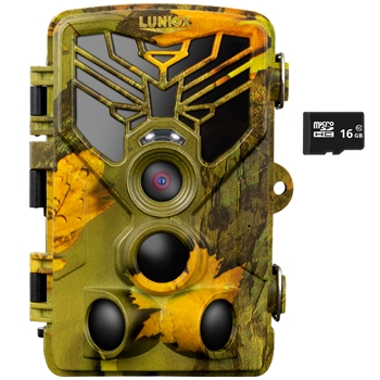 "Wildkamera ""LUNIOX VC24"", Fotofalle 24MP + HD Video, inkl. 16GB SD Karte"