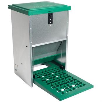 FEED-O-MATIC Geflügelfutterautomat mit Trittplatte, verzinkt, 8kg