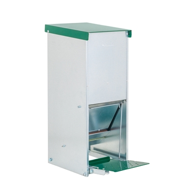 "VOSS.farming Geflügel-Futterautomat ""Gallus 8"" mit Trittklappe, Metall, 8kg"