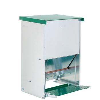 "VOSS.farming Geflügel-Futterautomat ""Gallus 12"" mit Trittklappe, Metall, 12kg"