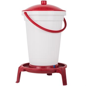 Geflügeltränkeeimer 24 Liter, mit Füßen und Tragebügel