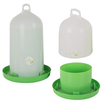 GreenLine Doppelzylindertränke für Geflügel, Bio-Kunststoff, 6l oder 12l