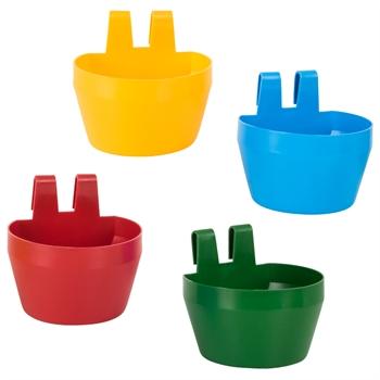 Geflügel-Trinkbecher 300 ml für Ausstellungskäfige (rot, blau, gelb, grün)