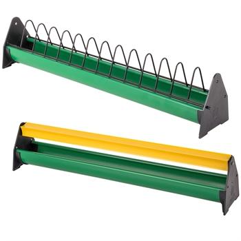 Küken-Futtertrog, 50 cm (mit Fressgitter oder mit Abwehrrolle)
