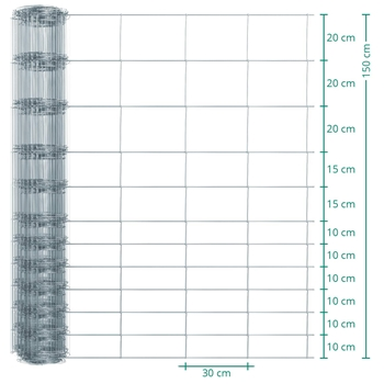 50m VOSS.farming Premium Plus Wildzaun, Knotengeflecht, Höhe 150cm - 150/12/30