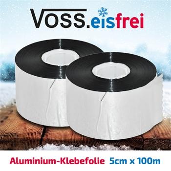 2x VOSS.eisfrei Alu-Klebefolie 50m x 5cm für Frostschutz-Heizkabel