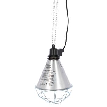 Infrarot-Wärmestrahler Ø 21cm - Wärmelampe inkl. Schutzkorb, 5m Kabel + Sparschalter
