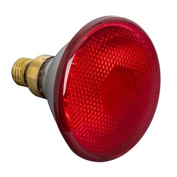 Infrarot-Sparlampe PAR 38, 100 Watt - Infrarot Energiesparlampe, Infrarot Sparbirne, rot