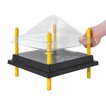Schutzabdeckung für Wärmeplatte 25x25cm, Kunststoff (PET)