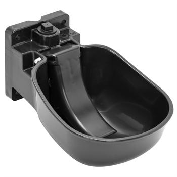Kunststoff-Tränkebecken K50 mit Druckzunge - Selbsttränke für Pferde und Rinder, schwarz