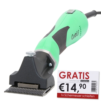 """Lister """"CUTLI"""" Pferdeschermaschine (grün) + 1x Schermesser schleifen GRATIS"""