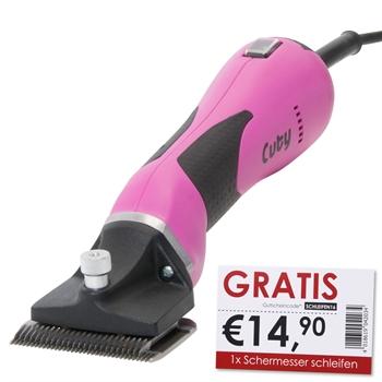 """Lister """"CUTY"""" Pferdeschermaschine (pink) + 1x Schermesser schleifen GRATIS"""