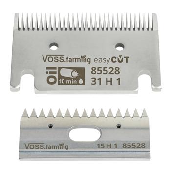 """VOSS.farming """"easyCUT"""" Schermesser-Set für Pferdeschermaschinen (31/15 Zähne), 1mm Schnitthöhe"""
