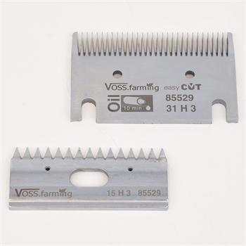 """VOSS.farming """"easyCUT"""" Schermesser-Set für Pferdeschermaschinen (31/15 Zähne), 3mm Schnitthöhe"""