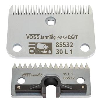 """VOSS.farming """"easyCUT"""" Schermesser-Set für Pferdeschermaschinen (30/15 Zähne), 1mm Schnitthöhe"""