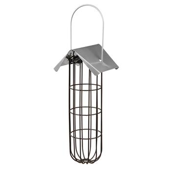Meisenknödelhalter mit Dach, 4 Knödel, Metall, 11 x 25 x 10cm, schwarz