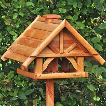 """Großes VOSS.garden Vogelhaus """"Finkenheim"""" aus Holz, natur (ohne Ständer)"""