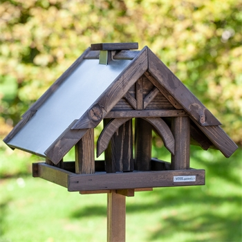 """VOSS.garden """"Sibo"""" - hochwertiges Vogelhaus mit Standfuß"""