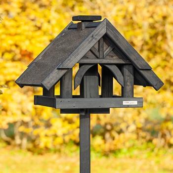 """VOSS.garden """"Rydbo"""" - hochwertiges Vogelhaus mit Standfuß, dunkel"""
