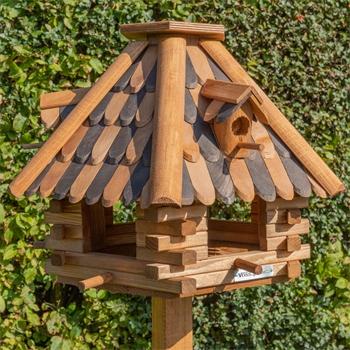 """VOSS.garden """"LilleHus"""" - hochwertiges Vogelhaus mit Dachschindeln"""