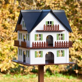 """VOSS.garden """"Zillertal"""" - sehr großes Vogelhaus im bayrischen Design, Breite 54cm, Höhe 57cm"""
