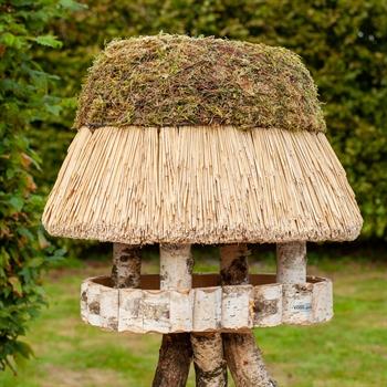"""VOSS.garden Vogelhaus """"Pellworm"""", mit Reetdach, oval, 45 x 60cm"""