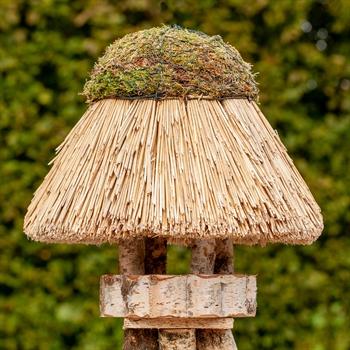 """VOSS.garden Vogelhäuschen """"Amrum"""" mit Reetdach - rund, Ø 45cm"""