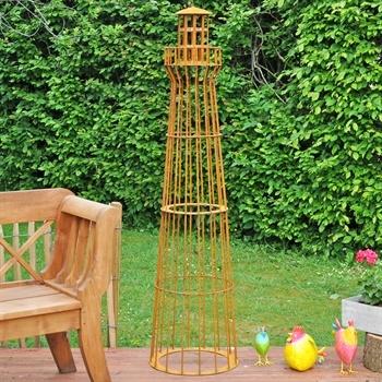 VOSS.garden Leuchtturm 180cm, Edelrost-Design