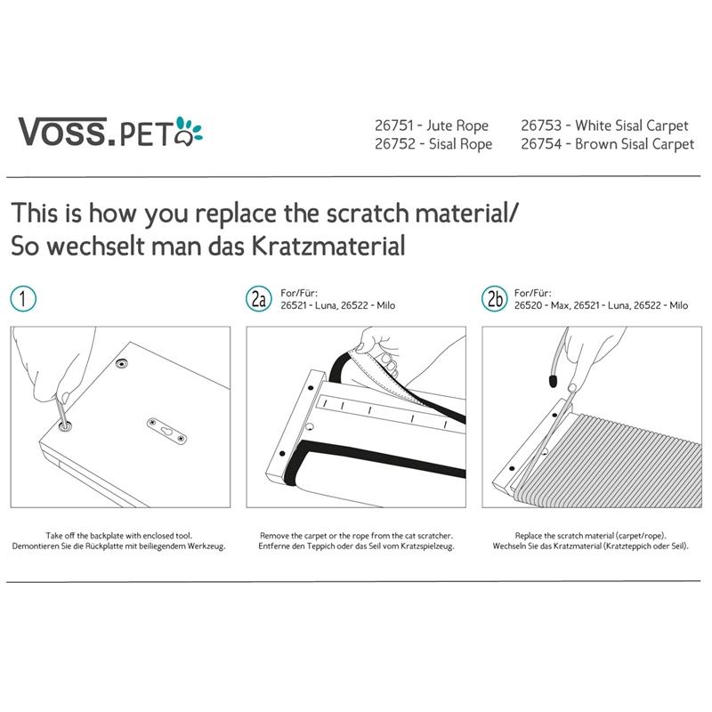 Voss Pet Ersatz Sisalteppich Braun