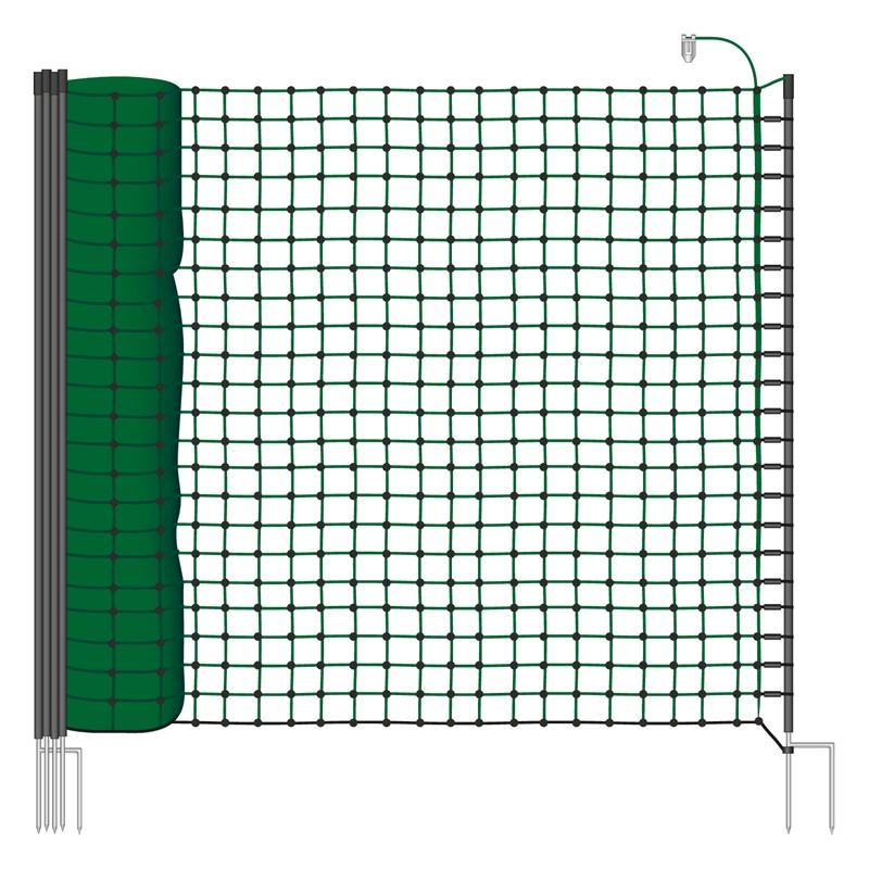 VOSS.farming 25m Elektronetz 110cm, Hundenetz, Katzennetz zur Gartensicherung