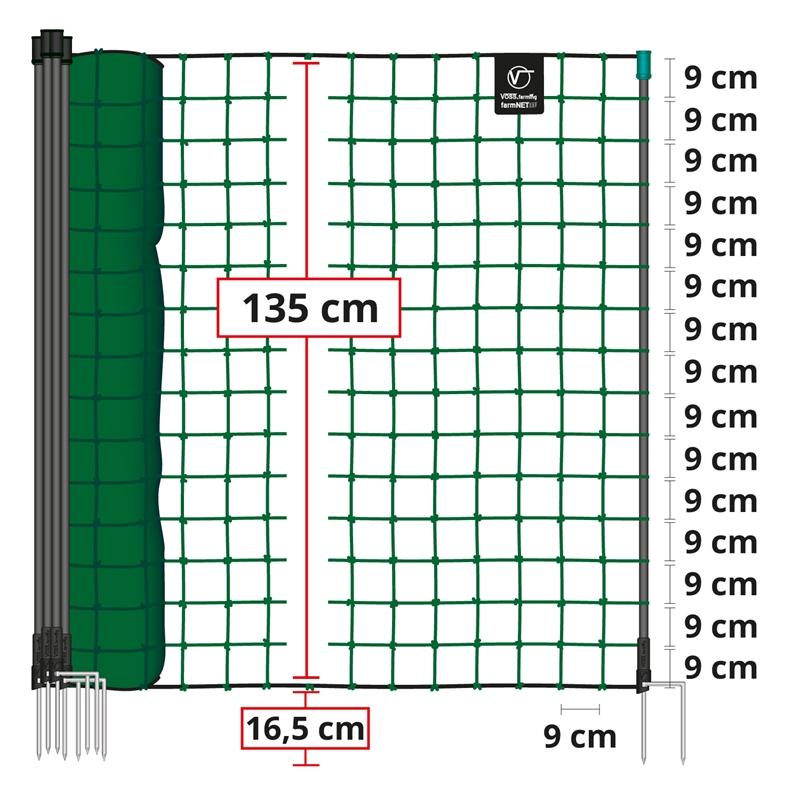 Ersatzpfahl Zusatzpfahl 120cm grün 2 Spitzen Geflügel Netze Pfahl Weidezaunpfahl