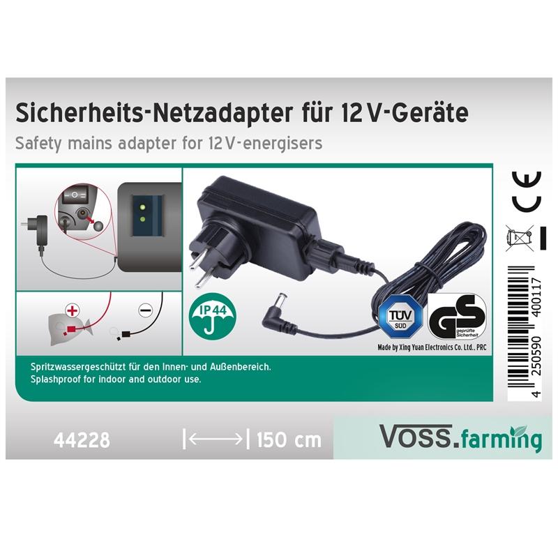 VOSS.farming Netzadapter für 12V Weidezaungeräte, IP44, Outdoor