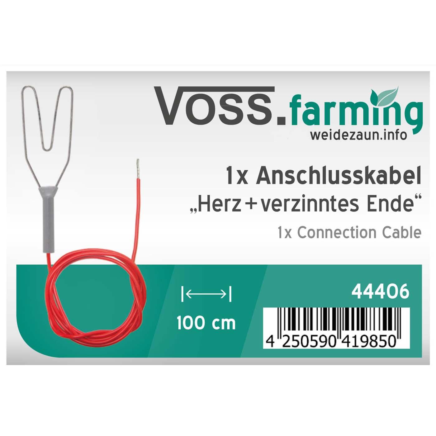 Zaunanschlusskabel rot Herz//Öse Weidezaun Zubehör Kabel