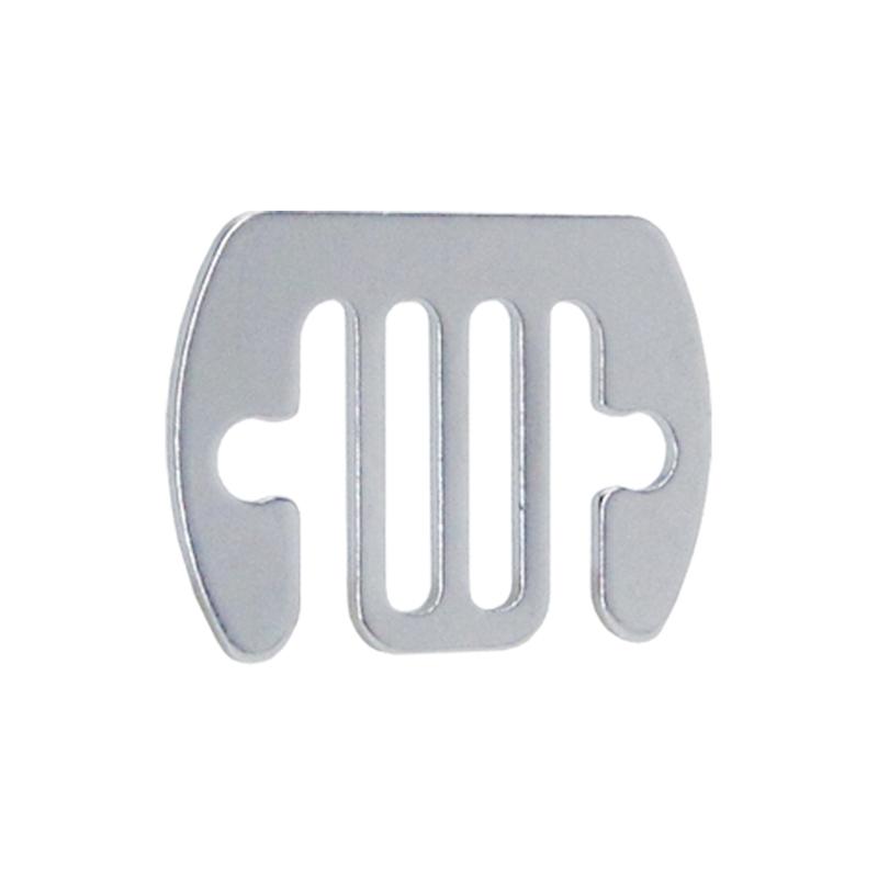 5x VOSS.farming Elektrozaun Band-Verbinderplatten bis 20mm NIRO-EDELSTAHL