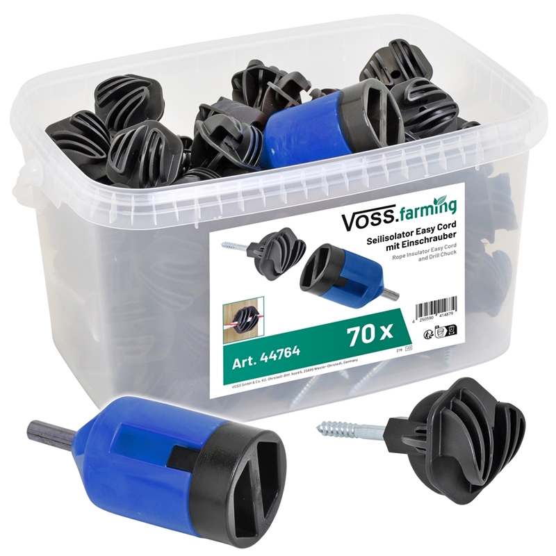 80x Seilisolator Easy Cord + Eimer + Einschrauber