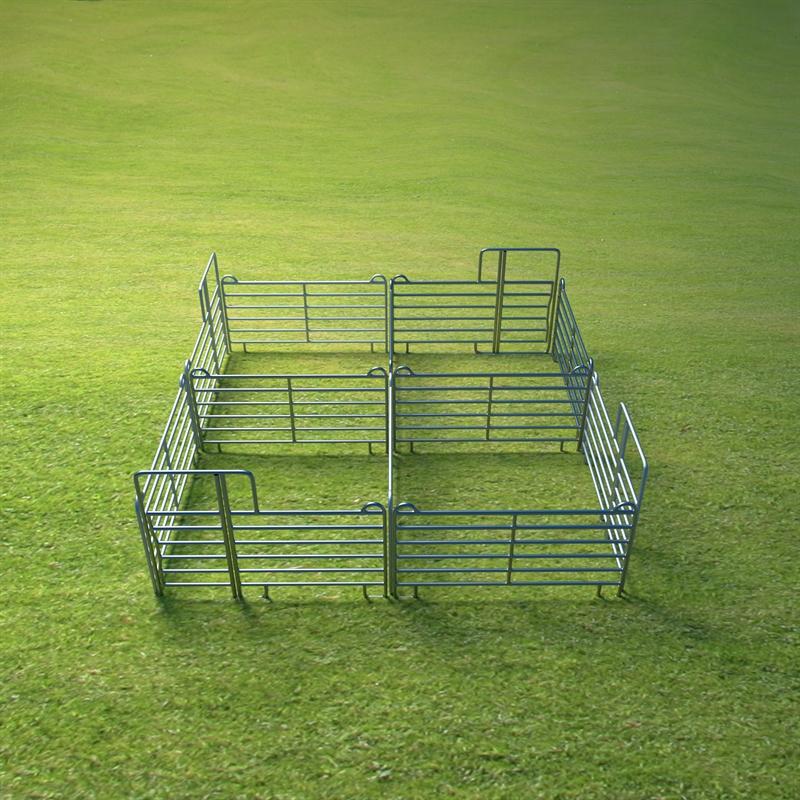 VOSS.farming Weidepanel-Set 4er Panel-Box, je 3,00 x 3,00 m