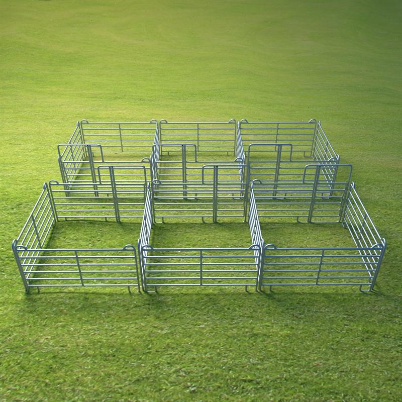 VOSS.farming Weidepanel-Set 2 x 3er Panel-Box, je 3,00 x 3,00 m